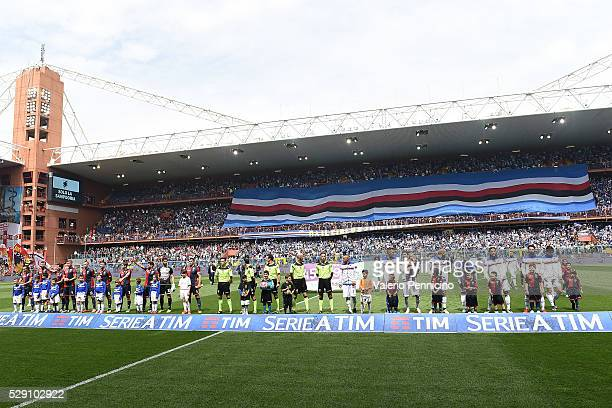 A general view during the Serie A match between UC Sampdoria and Genoa CFC at Stadio Luigi Ferraris on May 8 2016 in Genoa Italy