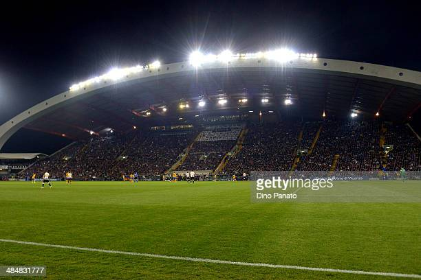 A general view during the Serie A match between Udinese Calcio and Juventus at Stadio Friuli on April 14 2014 in Udine Italy
