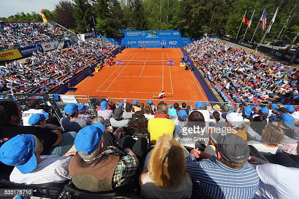 A general view during the singles final match between Kiki Bertens of Netherlands and Mariana DuqueMarino of Colombia on day eight of the Nuernberger...