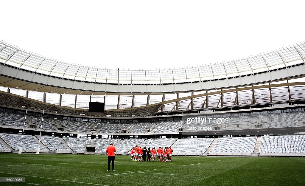 General view during the South African National rugby team training session at Cape Town Stadium on September 24 2014 in Cape Town South Africa
