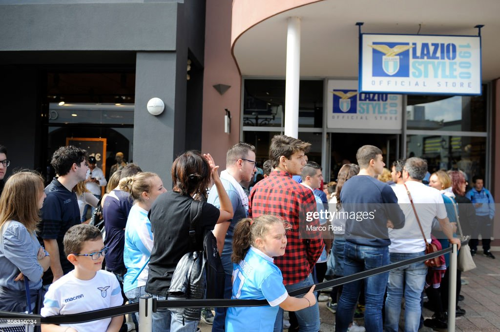A general view during the SS Lazio players visit to the club's store on October 6, 2017 in Rome, Italy.