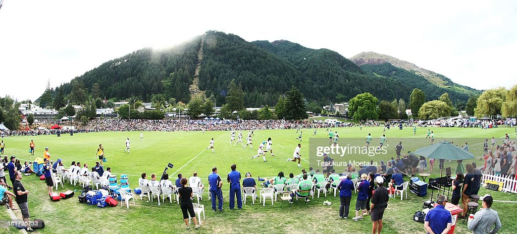 A general view during the Super Rugby trial match between the Highlanders and the Blues at the Queenstown Recreation Ground on February 15, 2013 in Queenstown, New Zealand.