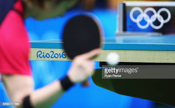 A general view during the Table Tennis Women's Team Quarter Final Match between Singapore and Republic of Korea during Day 8 of the Rio 2016 Olympic...