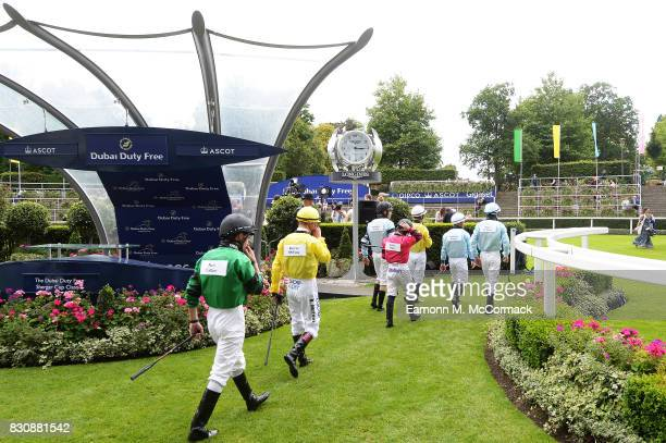 A general view during the The Dubai Duty Free Shergar Cup at Ascot Racecourse on August 12 2017 in Ascot England