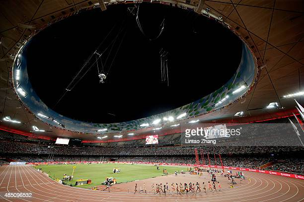 A general view during the the Women's 10000 metres final during day three of the 15th IAAF World Athletics Championships Beijing 2015 at Beijing...