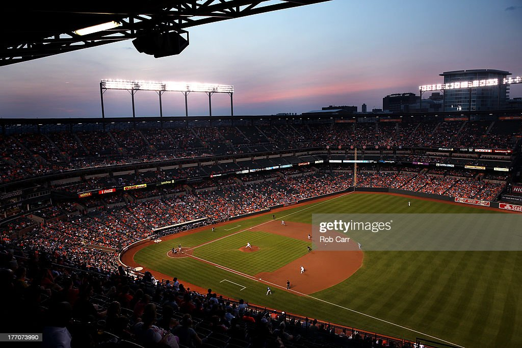 A general view during the third inning of the Baltimore Orioles and Tampa Bay Rays game at Oriole Park at Camden Yards on August 20, 2013 in Baltimore, Maryland.
