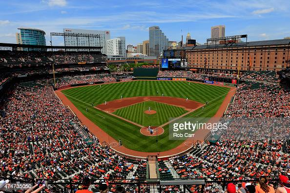 A general view during the third inning of the Baltimore Orioles and Houston Astros game at Oriole Park at Camden Yards on May 25 2015 in Baltimore...