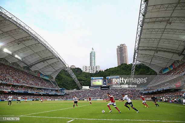 A general view during the Third Place PlayOff match between Tottenham Hotspur and South China at Hong Kong Stadium on July 27 2013 in So Kon Po Hong...