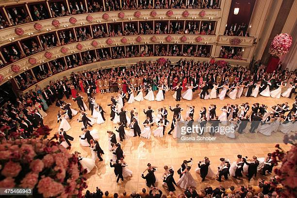 A general view during the traditional Vienna Opera Ball at Vienna State Opera on February 27 2014 in Vienna Austria
