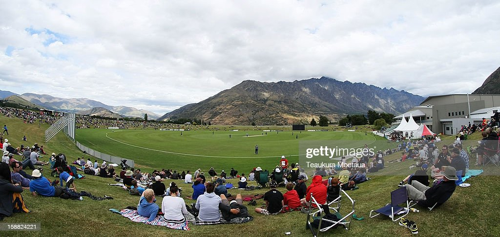 A general view during the Twenty20 match between Otago and Auckland at Queenstown Events Centre on December 31 2012 in Queenstown New Zealand