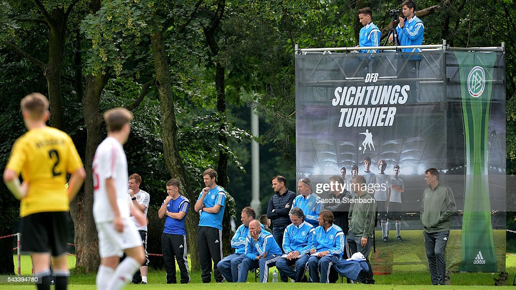 A general view during the U15 selection tournament at Sport School Wedau on June 28, 2016 in Duisburg, Germany.