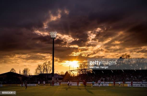 A general view during the U21 International Friendly match between Germany U21 and Portugal U21 at GaziStadion auf der Waldau on March 28 2017 in...