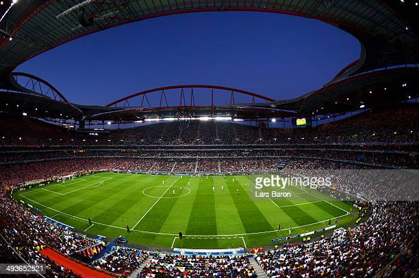 A general view during the UEFA Champions League Final between Real Madrid and Atletico de Madrid at Estadio da Luz on May 24 2014 in Lisbon Portugal