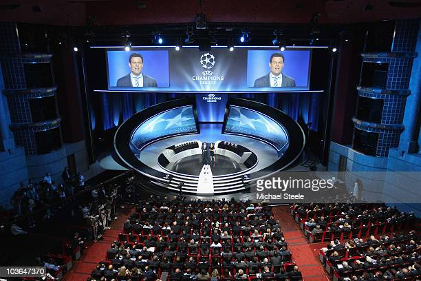 General view during the UEFA Champions League Group Stage draw at the Grimaldi Forum on August 26 2010 in Monaco Monaco