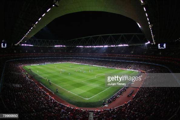 A general view during the UEFA Champions League last 16 round match between Arsenal and PSV Eindhoven at The Emirates Stadium on March 7 2007 in...
