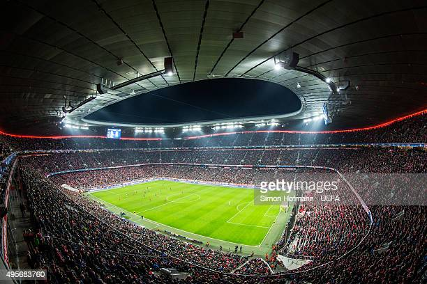 A general view during the UEFA Champions League match between FC Bayern Muenchen and Arsenal FC at Allianz Arena on November 4 2015 in Munich Germany