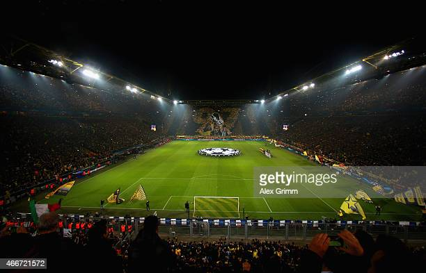 A general view during the UEFA Champions League Round of 16 between Borussia Dortmund and Juventus at Signal Iduna Park on March 18 2015 in Dortmund...