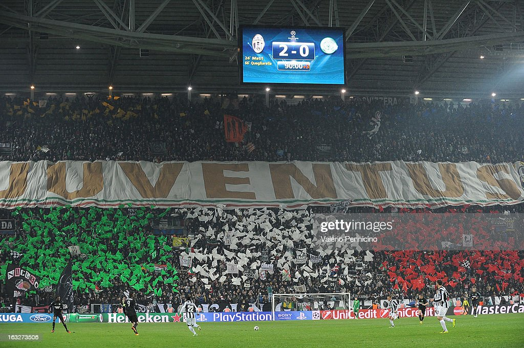 A general view during the UEFA Champions League round of 16 second leg match between Juventus and Celtic at Juventus Arena on March 6, 2013 in Turin, Italy.