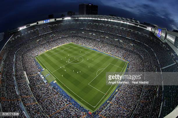 A general view during the UEFA Champions League Semi Final second leg match between Real Madrid and Manchester City FC at Estadio Santiago Bernabeu...