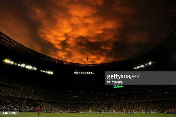 A general view during the UEFA EURO 2012 group D match between Ukraine and France at Donbass Arena on June 15 2012 in Donetsk Ukraine