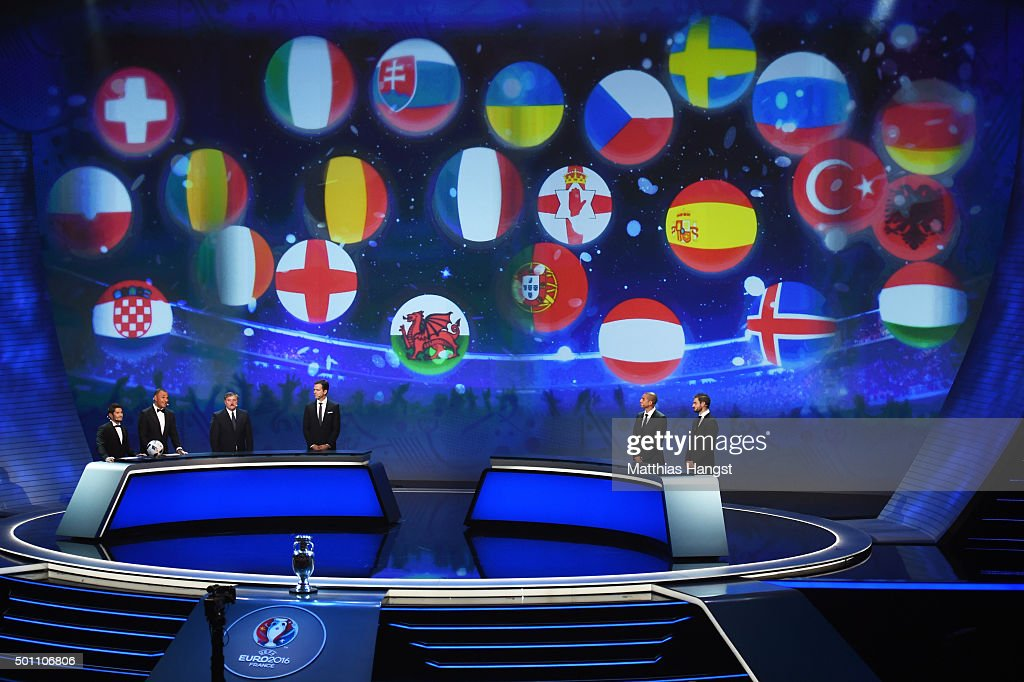 A general view during the UEFA Euro 2016 Final Draw Ceremony at Palais des Congres on December 12 2015 in Paris France