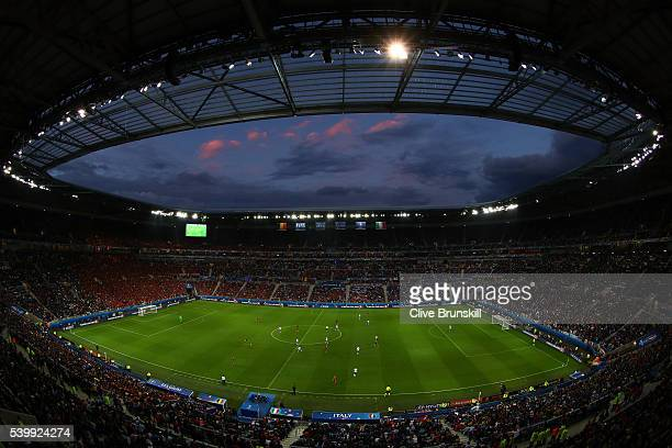 A general view during the UEFA EURO 2016 Group E match between Belgium and Italy at Stade des Lumieres on June 13 2016 in Lyon France