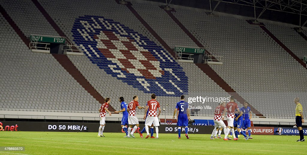 A general view during the UEFA Euro 2016 Qualifier between Croatia and Italy on June 12 2015 in Split Croatia