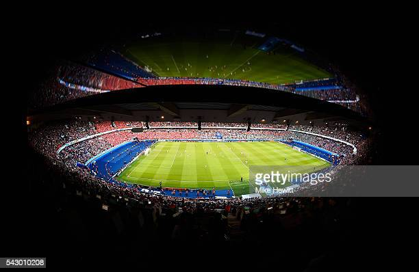 A general view during the UEFA EURO 2016 round of 16 match between Wales and Northern Ireland at Parc des Princes on June 25 2016 in Paris France