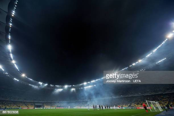 A general view during the UEFA Europa League group B match between FC Dynamo Kyiv and FK Partizan Belgrade at NSK Olimpiyskyi Stadium on December 7...