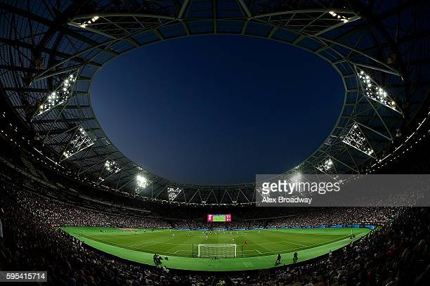 A general view during the UEFA Europa League match between West Ham United and FC Astra Giurgiu at the Olympic Stadium on August 27 2016 in London...