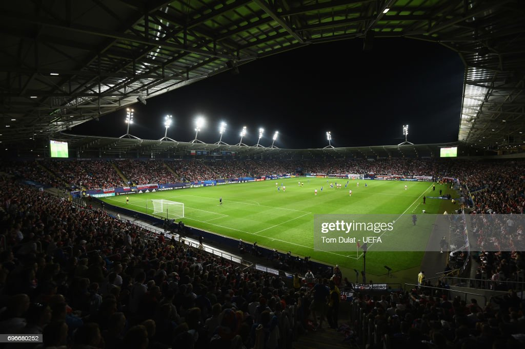 A general view during the UEFA European Under-21 Championship match between Poland and Slovakia at Lublin Stadium on June 16, 2017 in Lublin, Poland.