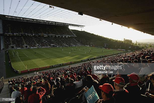 General view during the UEFA U21's Championship 2006 match between Portugal and France at the Estadio Municipal de Braga on May 23 2006 in Braga...