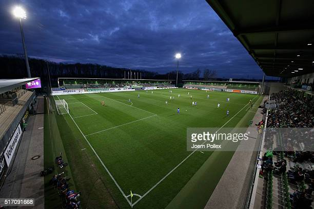 General view during the UEFA Women's Champions League match between VfL Wolfsburg Women's and ACF Brescia Femminile at AOKStadion on March 23 2016 in...