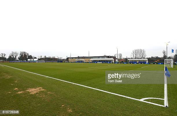 A general view during the UEFA Youth League quarter final match between Chelsea and Ajax at Chelsea Training Ground on March 15 2016 in Cobham England