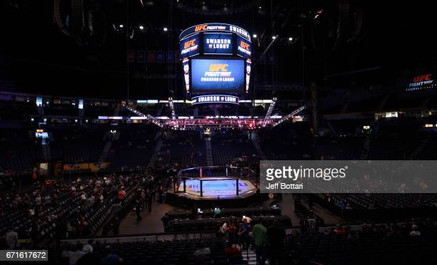 A general view during the UFC Fight Night event at Bridgestone Arena on April 22 2017 in Nashville Tennessee