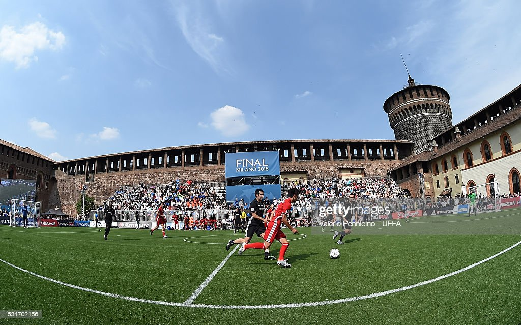 A general view during the Ultimate Champions Match between Milan & Inter Legends and World All-Stars during the Champions Festival prior to the final at Stadio Giuseppe Meazza on May 27, 2016 in Milan, Italy.
