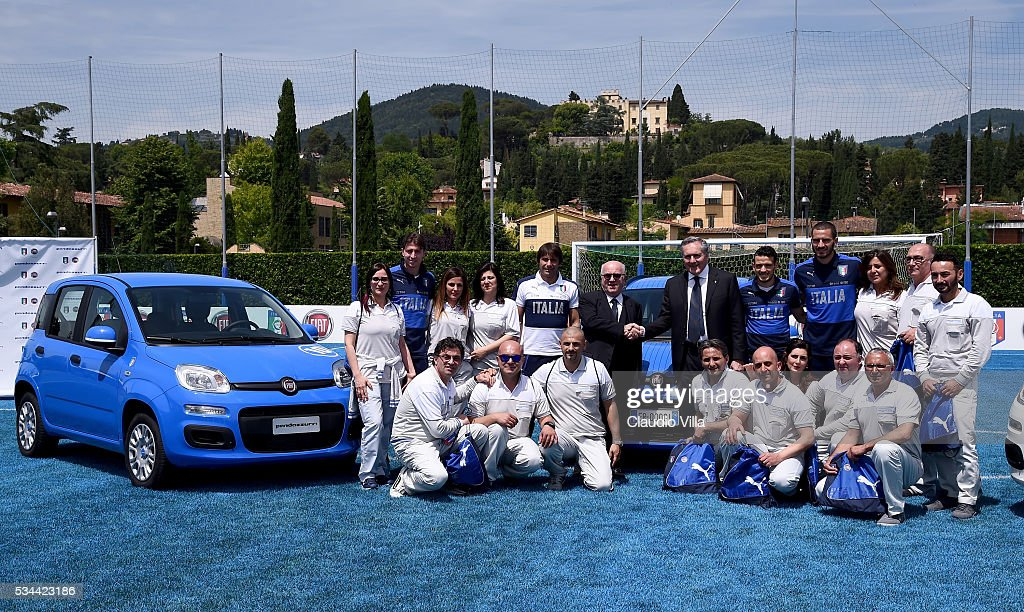 General view during the Unveil New Panda Azzurri Car at Coverciano on May 26, 2016 in Florence, Italy.