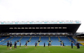 A general view during the VB Kangaroos Captain's Run ahead of the Gillette Four Nations final between England and Australia at Elland Road on...
