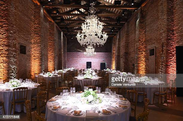 General view during the Venetian Heritage And Bulgari Gala Dinner at Cipriani Hotel on May 9 2015 in Venice Italy