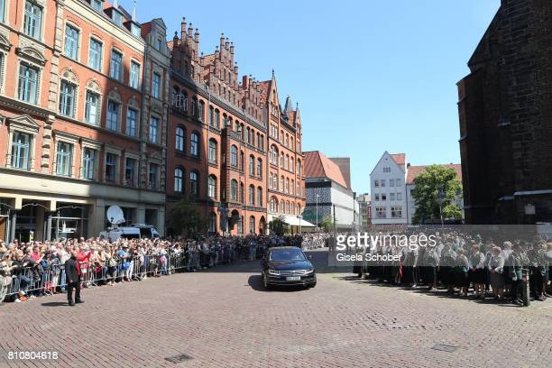 A general view during the wedding of Prince Ernst August of Hanover Duke of BrunswickLueneburg and his fiancee Ekaterina Malysheva at Hanover Market...