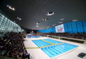 A general view during the Women's 10m Platform Final on day three of the FINA/NVC Diving World Series at the London Aquatics Centre on April 27 2014...