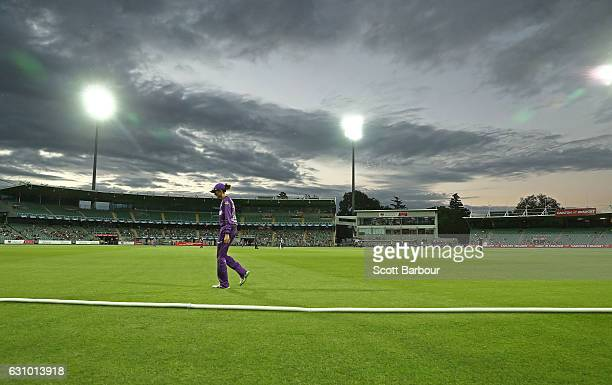 A general view during the Women's Big Bash League match between the Sydney Thunder and the Hobart Hurricanes at Aurora Stadium on January 5 2017 in...