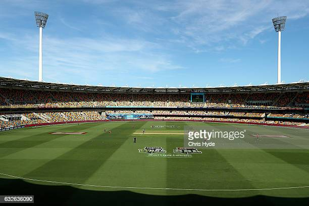 General view during the Women's Big Bash League semi final match between the Sydney Sixers and the Hobart Hurricanes at The Gabba on January 25 2017...