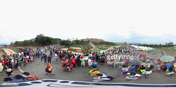 General view during the Women's CrossCountry Mountain Bike Race on Day 15 of the Rio 2016 Olympic Games at the Mountain Bike Centre on August 20 2016...