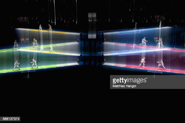 A general view during the women's individual foil on Day 5 of the Rio 2016 Olympic Games at Carioca Arena 3 on August 10 2016 in Rio de Janeiro Brazil