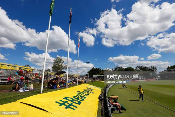 General view during the Women's One Day International between Australia and England at Allan Border Field on October 22 2017 in Brisbane Australia