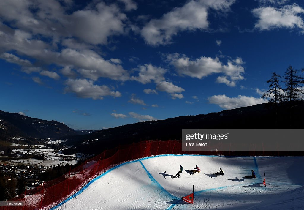 A general view during the Women's Snowboardcross Quarterfinal of the FIS Freestyle Ski and Snowboard World Championship 2015 on January 16, 2015 in Kreischberg, Austria.