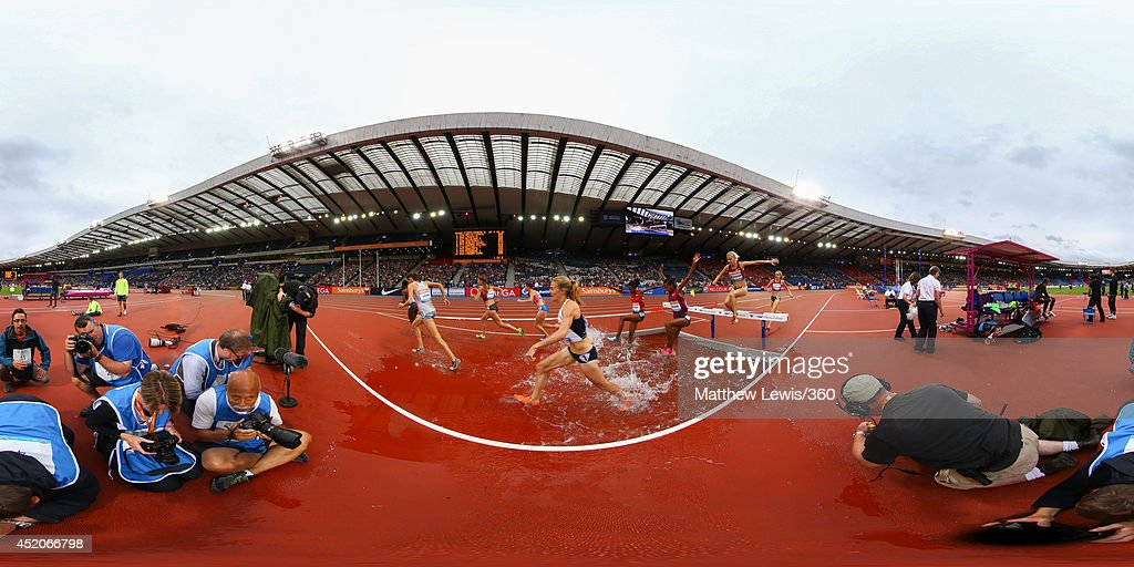 A general view during the womens steeplechase on day two of the Diamond League Sainsbury's Glasgow Grand Prix at Hampden Park on July 12, 2014 in Glasgow, Scotland. Hampden Park is one of the venues being used for the upcoming Commonwealth Games later this month.