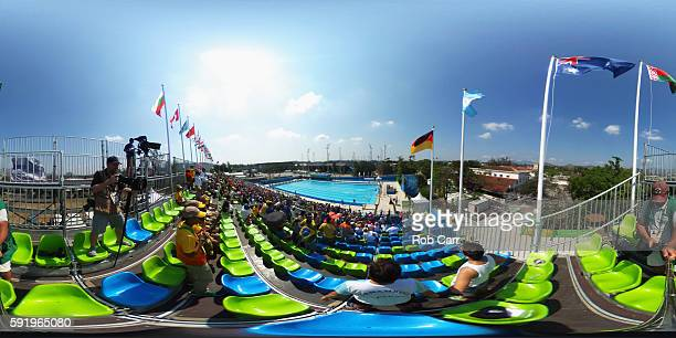 General view during the Women's Swimming Modern Pentathlon on Day 14 of the Rio 2016 Olympic Games at the Deodoro Aquatics Centre on August 19 2016...