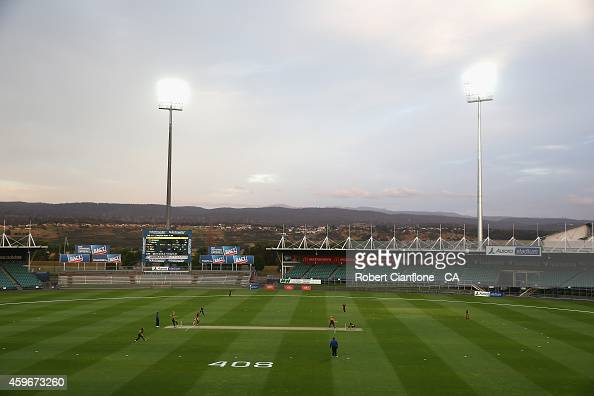 A general view during the WT20 match between Tasmania and Queensland Aurora Stadium on November 28 2014 in Launceston Australia